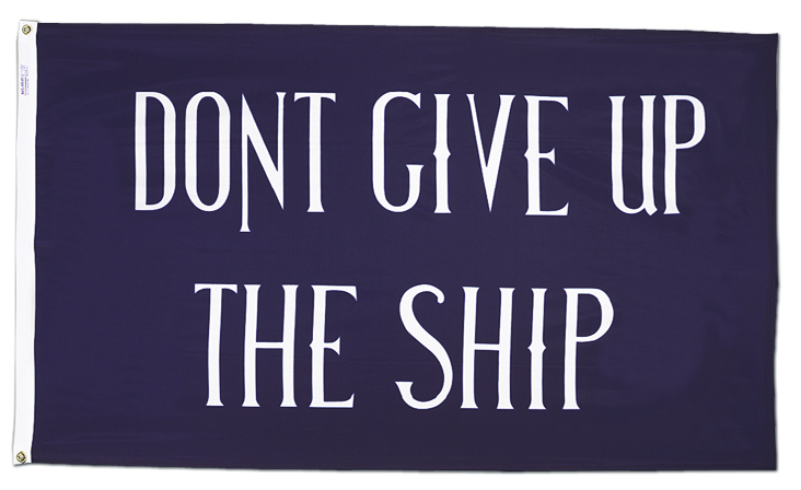 Commodore Oliver Hazard Perry Legendary Battle Lake Erie Dont Give Ship Flag 3x5