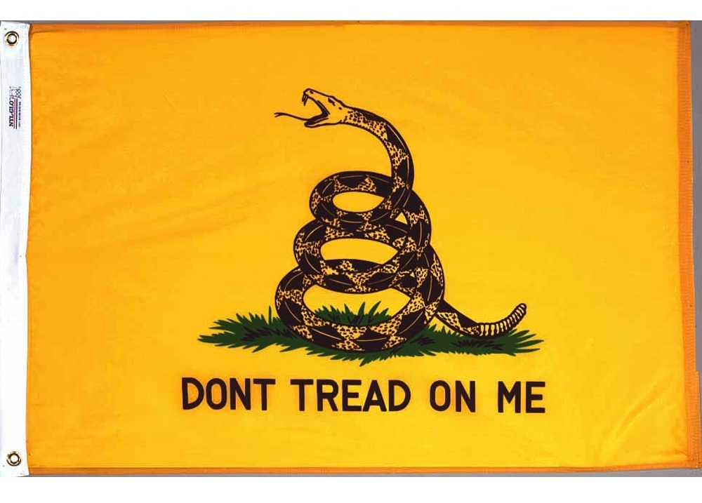 Gadsen Dont tread on me nylon flag