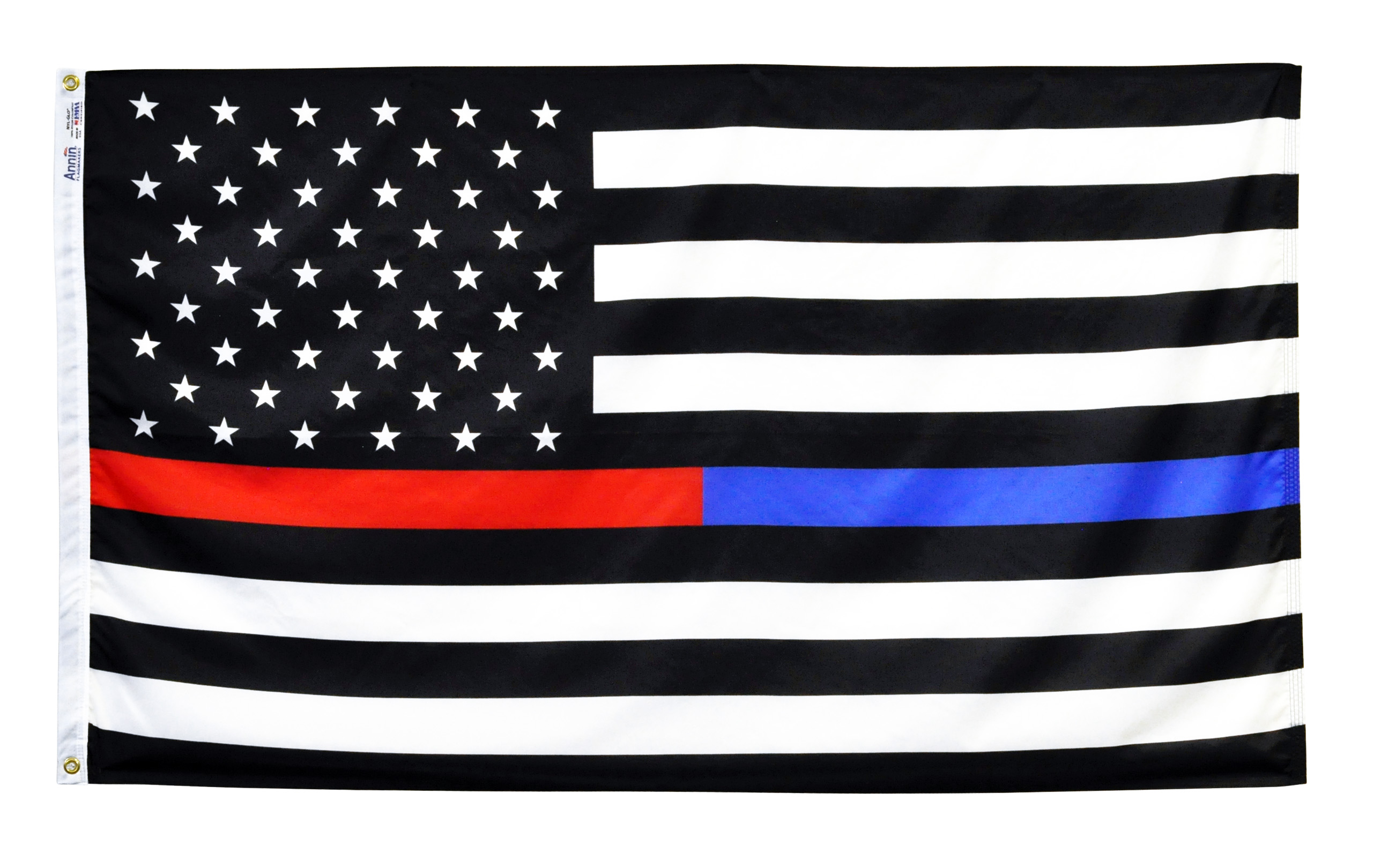 Thin Red and Blue Line US Flag