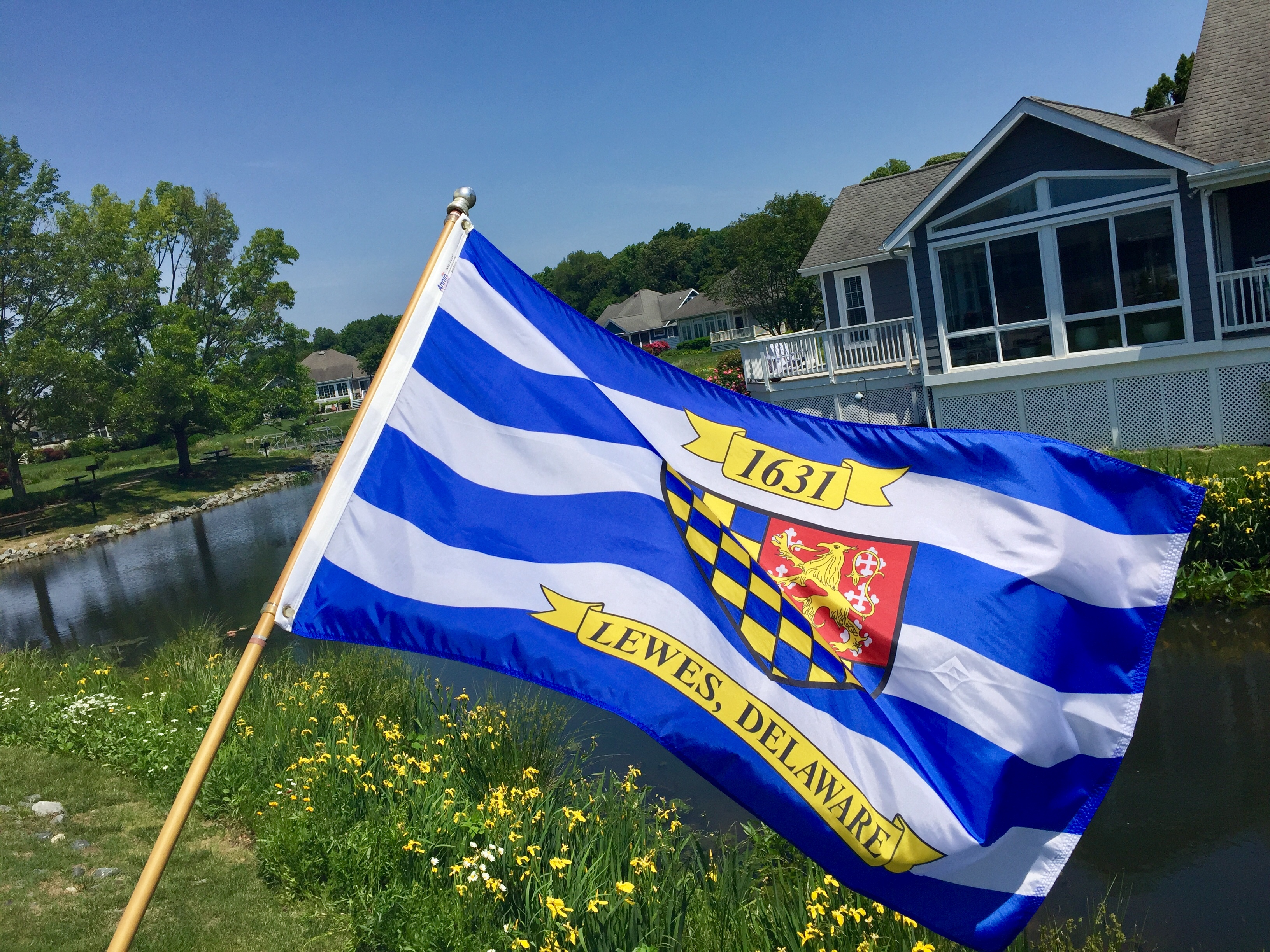 City of Lewes Delaware Flag